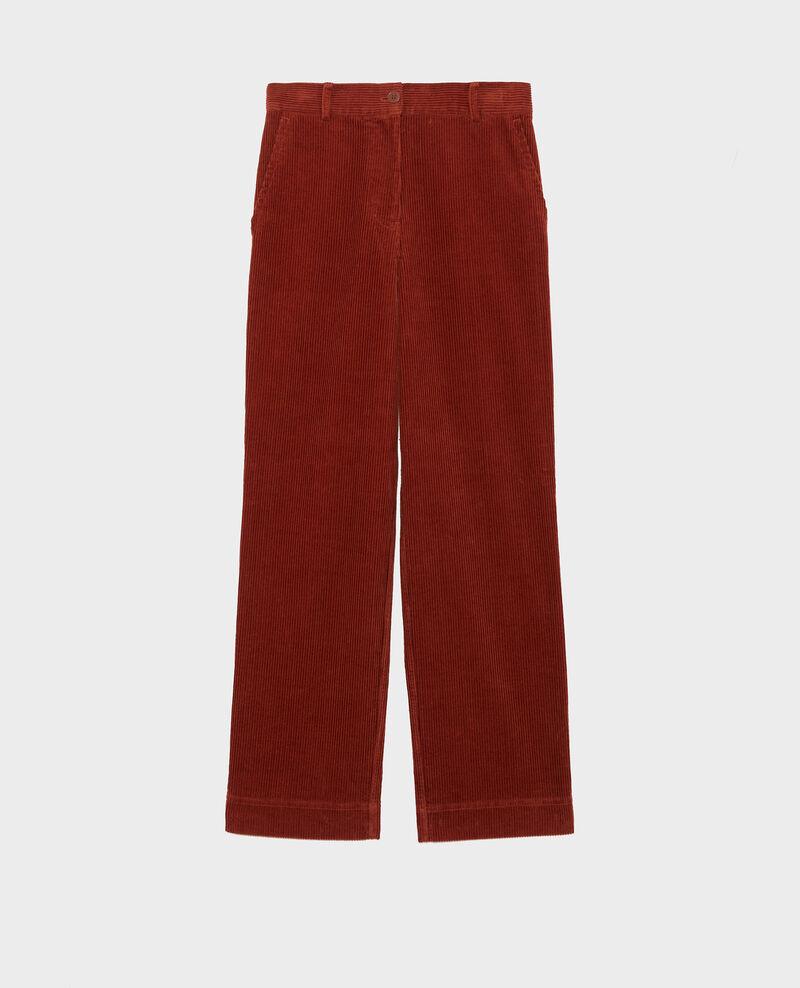 Wide corduroy trousers Brandy brown Maora