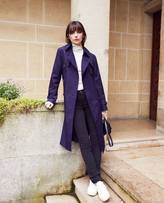Timeless trench coat EVENING BLUE