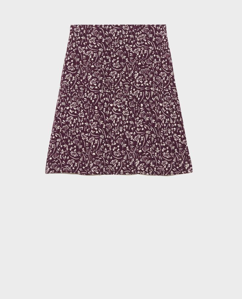 Printed wrap skirt Cyanotype purple Paline
