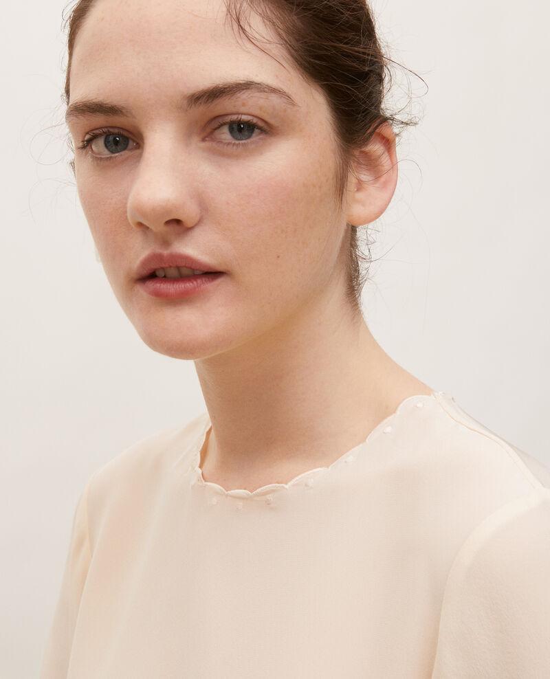 Embroidered silk blouse Buttercream Lolape