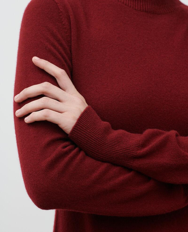 3D cashmere blend mini dress Cabernet Paulnela