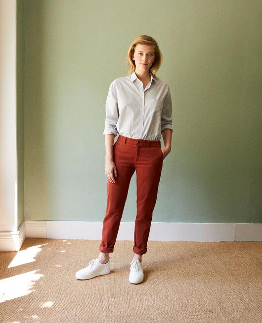 Straight-leg trousers BRANDY BROWN