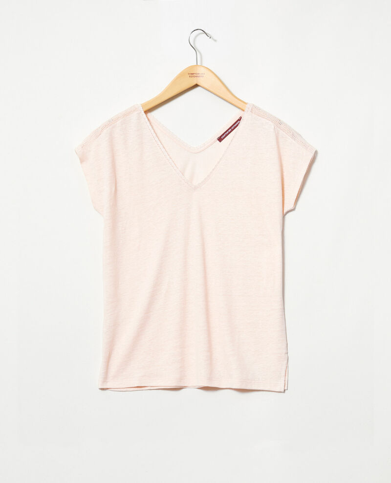 T-shirt with lace Light pink Itlanta
