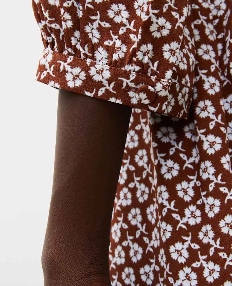 Floral print flared wrap skirt Print fleurettes tortoise shell Miremonta