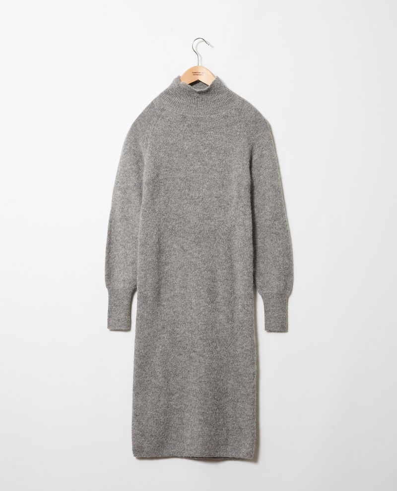 Long knitted dress Middle grey Joupalou