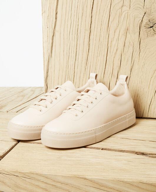 Platform sneakers PINK BEIGE