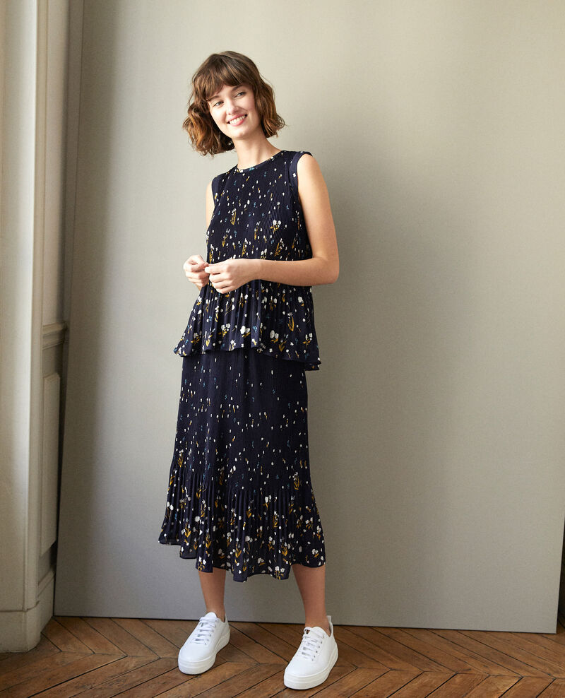 Pleated skirt Blue Garantie