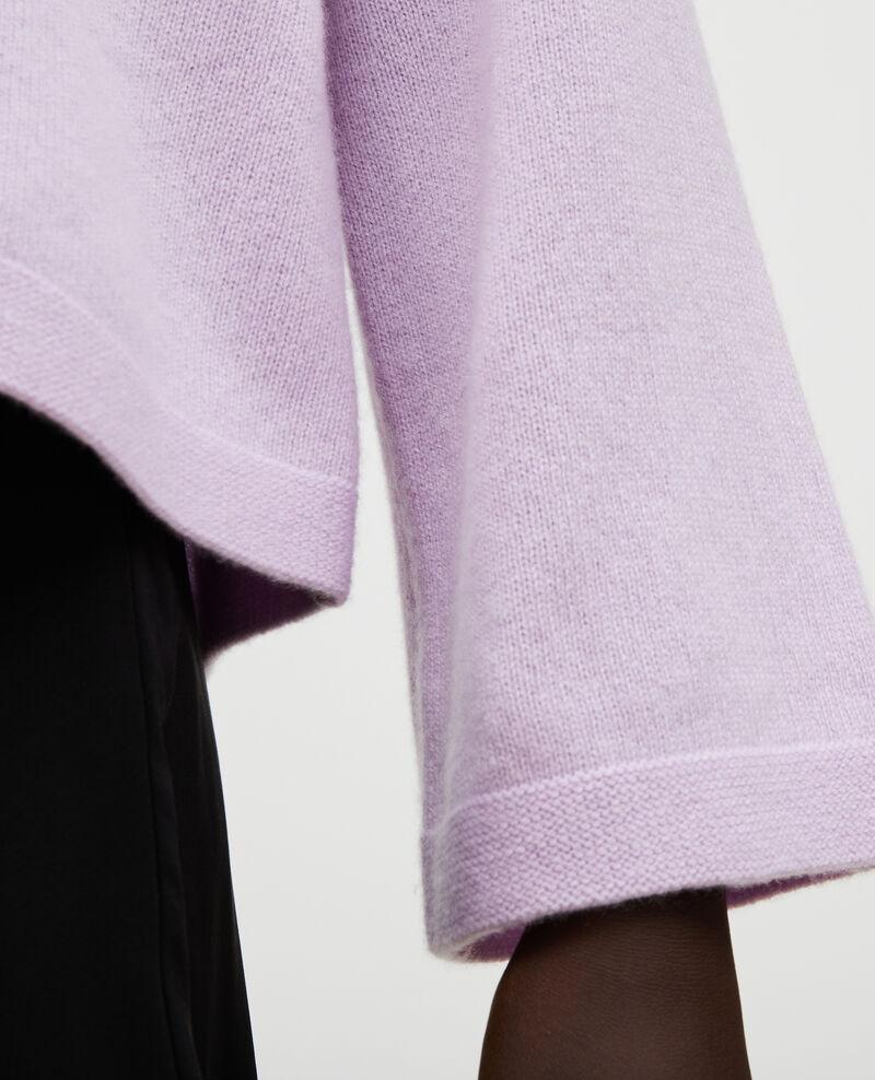 Cashmere boatneck jumper Pastel lilac Millau
