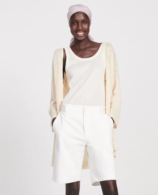 Linen cardigan BUTTERCREAM