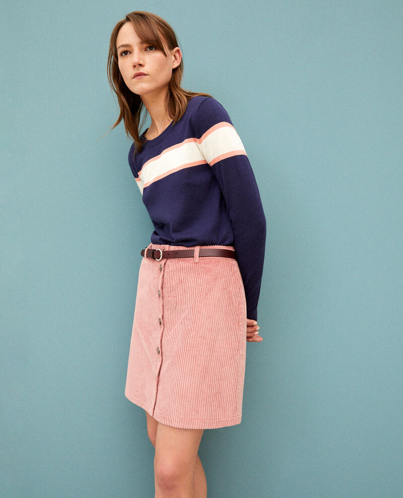 Ribbed corduroy skirt Old rose Gammon