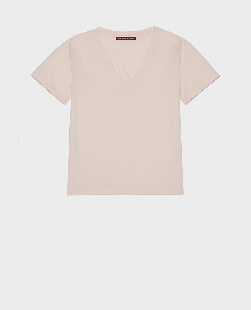 Egyptian cotton t-shirt Primrose pink Laberne