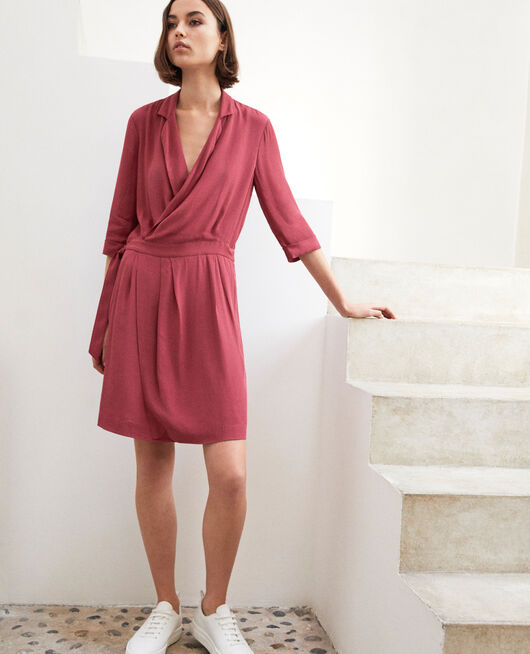 Wrap dress EARTH RED