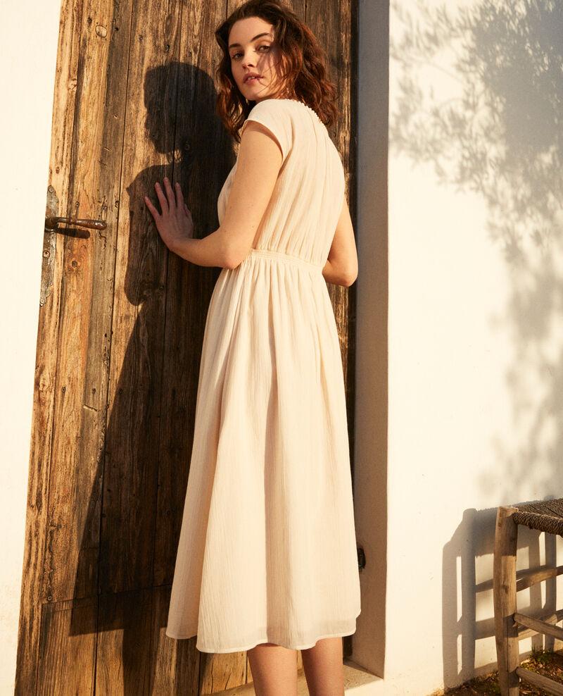 Mid-length dress Linen/white Idem