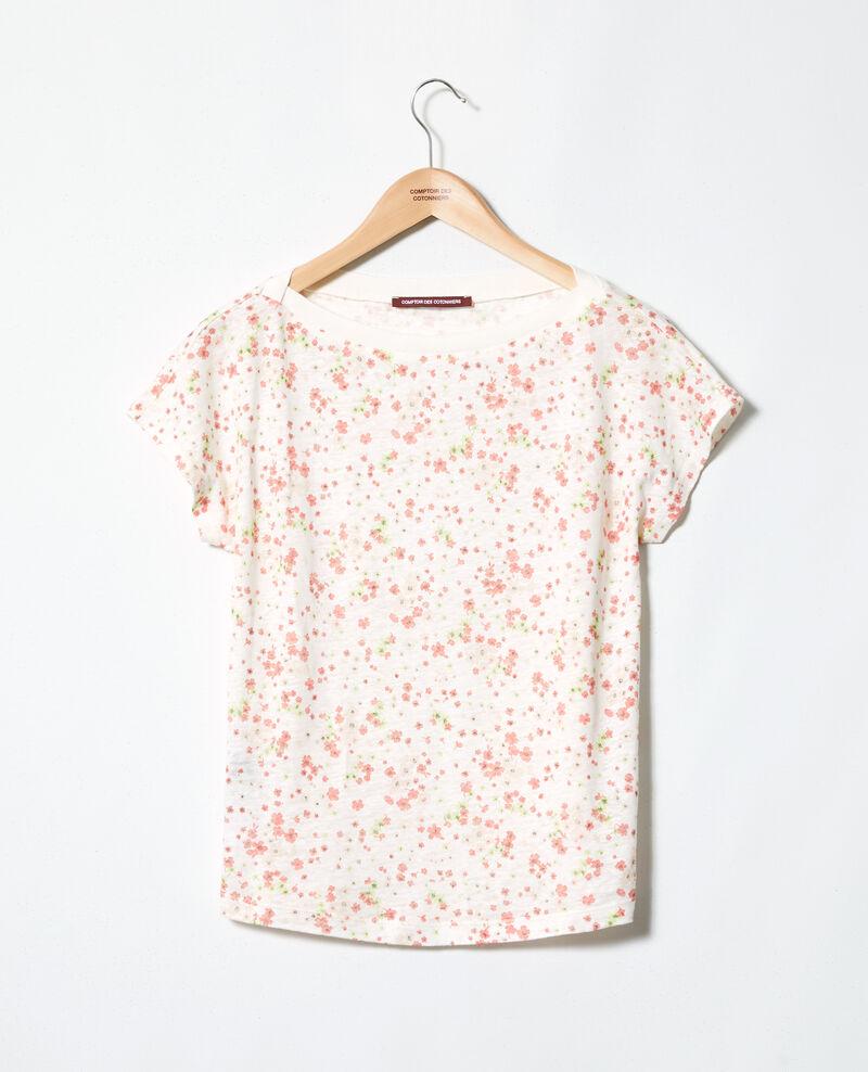 Boatneck t-shirt Primula ow Idilika