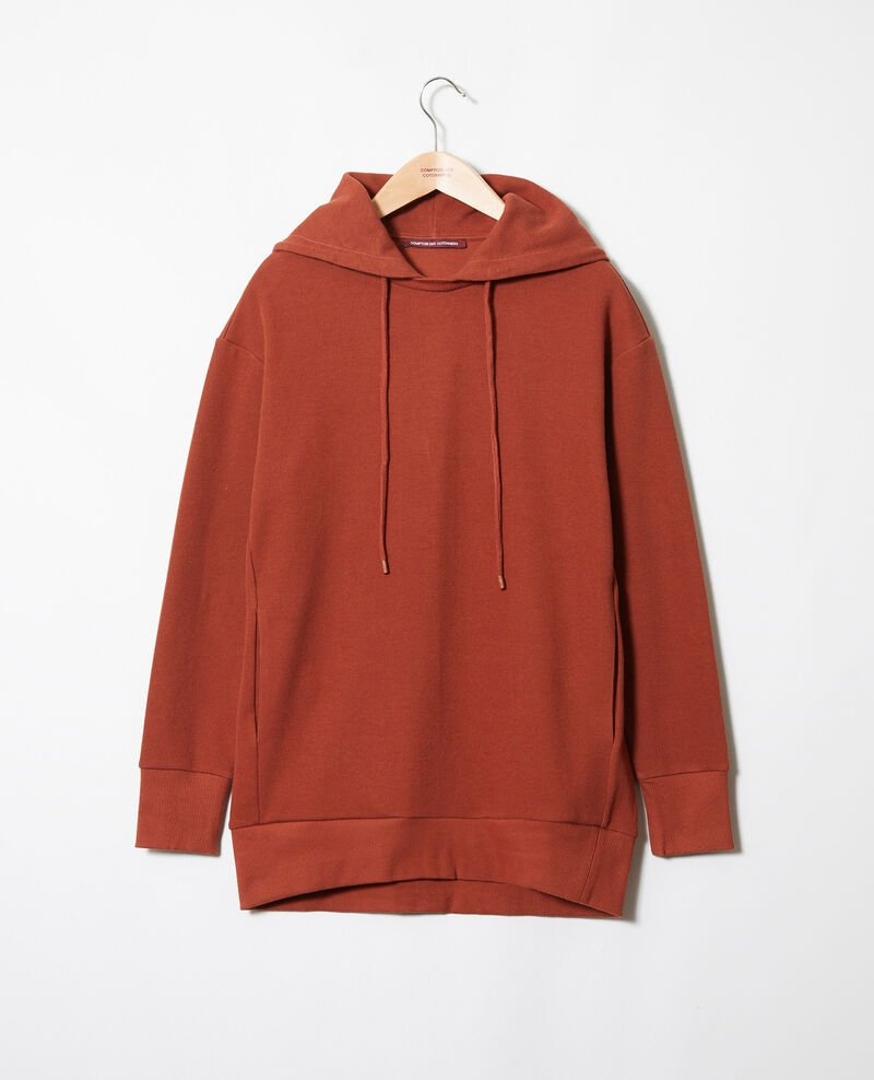 Hooded sweatshirt Brandy brown Jasette