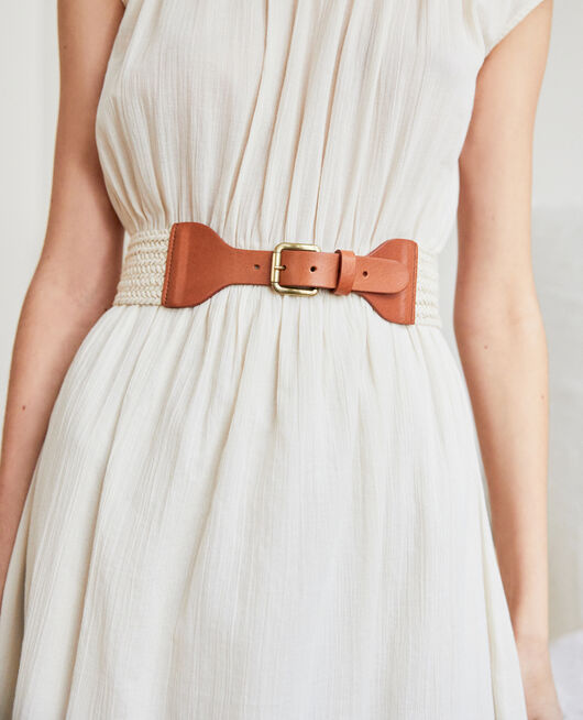 Fabric blend belt OW/CAMEL