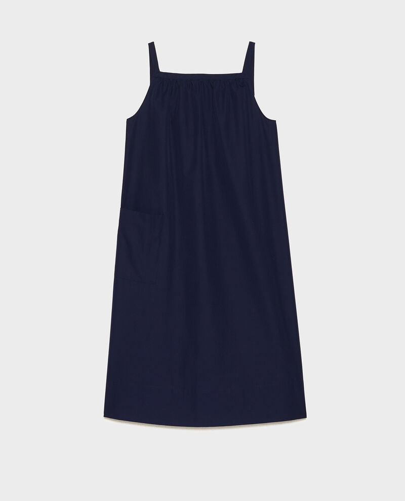 Cotton dress Maritime blue Lisle