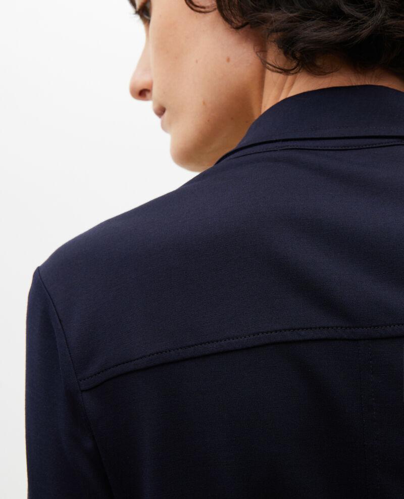 Silk jersey shirt dress Maritime blue Lulia