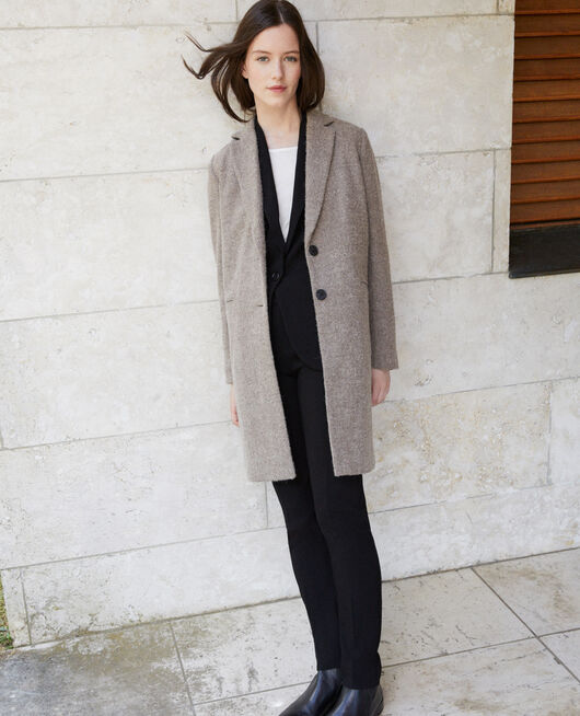Straight fit coat Beige