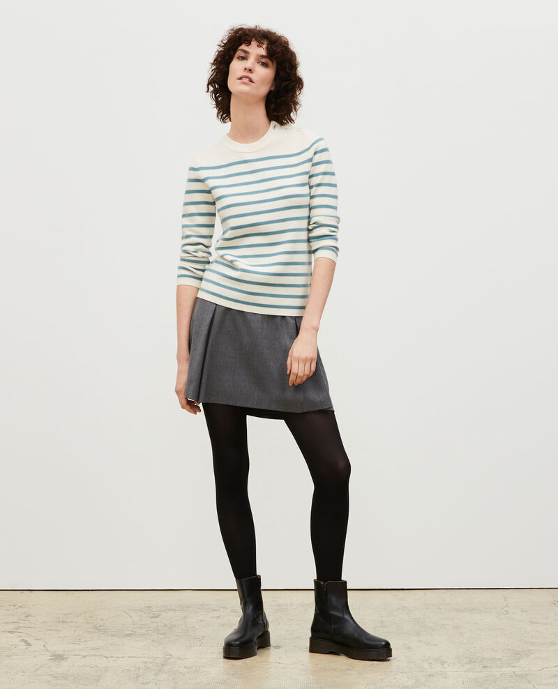 MADDY - Striped wool jumper Str_jetstr_trs Liselle