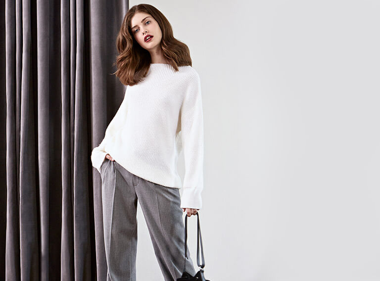 Look - Woll and alpaca jumper, Trousers
