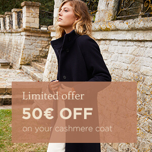 50€ off your cashmere coat