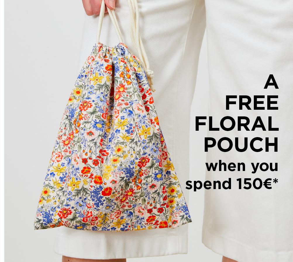 Free floral pouch - Desktop