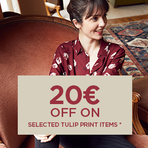 20€ off on selected Tulip print items