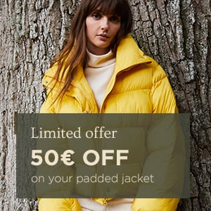 50€ off your padded jacket
