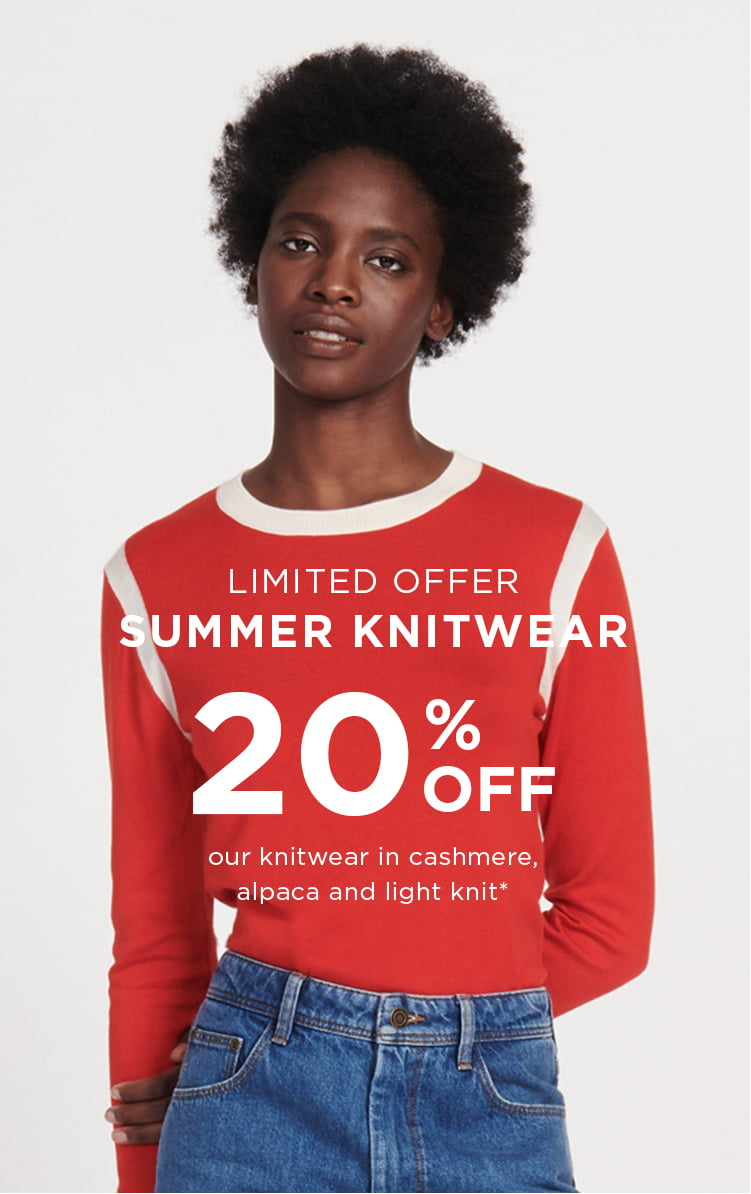 20% OFF selection of knitwear