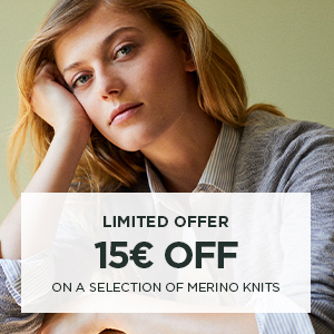 15€ off on a selection of merino knits