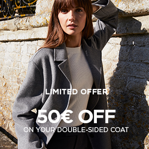 50€ off on your double-sided coat