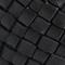 Wide braided leather belt Black beauty Perles