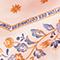 Diamond-shape silk foulard Seashell pink Nandana
