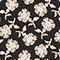 Long-sleeve floral print blouse Print fleurettes black latte Manrant