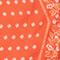 Diamond-shape silk foulard Spicy orange Nandana
