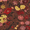 Floral silk wrap blouse Print eden tortoiseshell Mirebeau