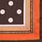 Polka dot square silk foulard Black coffee Nois