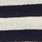 Linen and cotton jumper Stripes maritime blue buttercream Licula