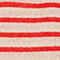 Linen T-shirt Stripes buttercream fiery red Logron