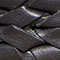 Braided leather belt Dark navy Jessai