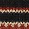 Round neck alpaca wool jacquard jumper Black brandy lighttaupe jacquard Marolette